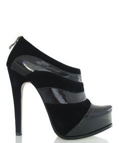 Take a look at this Black Knightsbridge Platform Bootie by Fiebiger Shoes on #zulily today!
