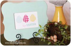 {Easter Art & Free Printable}