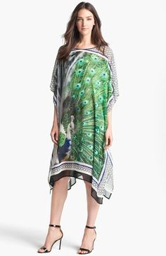 you put a bird on your .....    Clover Canyon 'Peacock' Print Caftan Dress available at #Nordstrom