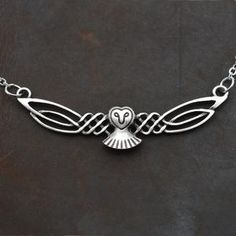 Stunning Celtic Flying Owl Necklace 25% discount & Free Shipping!