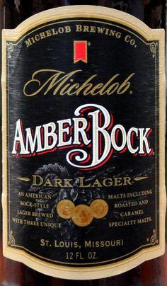 Michelob Amber Bock Dark Lager Beer