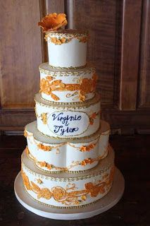 #cakecoquette #weddingcake #creativecake #art #sanfrancisco #workingsolutions  Order now at www.cakecoquette.com Bakery Business, Orange Wedding, Creative Cakes, Food Network Recipes, Cake Toppers, Wedding Cakes, Bride, Desserts, Art