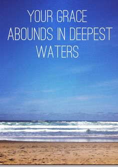 take me deeper than my feet could ever wander | Spirit lead me where my trust is without borders. Let me walk upon the ...