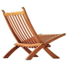 Hans Wegner Rare Folding Chair in Mahogany  | See more antique and modern Lounge Chairs at https://www.1stdibs.com/furniture/seating/lounge-chairs