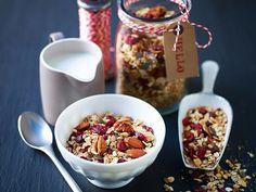 Make muesli as a gift and package nicely Muesli, Granola, Gluten Free, Baking, Craft, Healthy, Breakfast, Sweet, Christmas