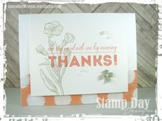 [By]: Jessica Kerr, Stamp Day Designs [Stamp Sets]: One Big Meaning, Butterfly Basics [Ink]: Sahara Sand, Crisp Cantaloupe [Paper]: Whisper White, Sahara Sand, Sweet Dreams DSP [Accessories]: Pearl Basic Jewels, Itty Bitty Accents Punch