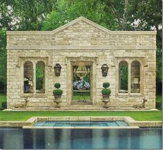 Designer Pamela Pierce ~ Garden pavilion as featured in Veranda Magazine