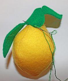 lots of felt food including a felt lemon tutorial