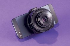 Sony DSC-QX10 or DSC-QX100 Smartphone Lenses by R. MartinRamin, wsj: Clip to the back of an iPhone or Android  to create a Frankenshooter that can snap 18- or 20-megapixel pics whose quality rivals that of photos taken with a good point-and-shoot. #Photography #Camera #Sony #Smartphone