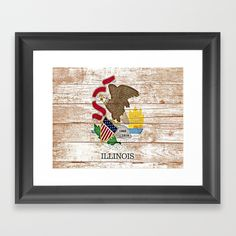 Buy Illinois Framed Art Print by candicebarnhart. Worldwide shipping available at Society6.com. Just one of millions of high quality products available.