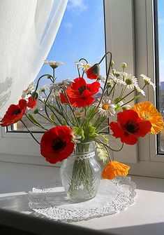 Poppies and daisy flowers. Clay flowers flowers bouquet vase Floral arrangement Colorful bouquet Daisy flowers Clay flowers Wild flowers Home decor Poppy Gift Cold porcelain Table vase flowers Clay Flowers, Flower Vases, Beautiful Flowers, Flowers In A Vase, Flowers Decoration, Flowers For You, Flower Farm, My Flower, Beautiful Flower Arrangements