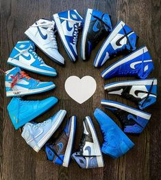 Nike Shoes OFF! ►► Nike air Jordan 1 collection Who wants a pair of sneakers? Nike Air Jordans, Sneakers Nike Jordan, Jordan Shoes Girls, Retro Jordans, Nike Air Shoes, Jordan Nike, Girl Jordans, Blue Jordans, Jordan Outfits