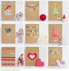 Dagens pyssel, 10 julkort – Craft of the Day, 10 christmas cards | Craft & Creativity – Pyssel & DIY