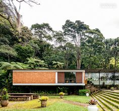 amazing house surrounded by nature #Brazil #Brasil #architecture #facade