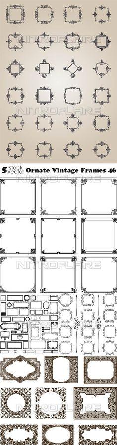 Векторный клипарт - Ornate Vintage Frames 46