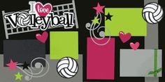 I Love Volleyball Page Kit