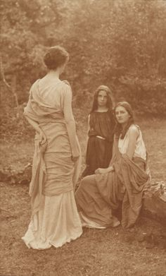 1900  by William J. Day  Women in the woods