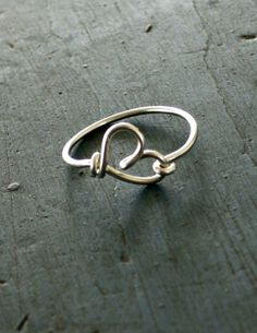 Cute and completely sized to fit your finger! Sterling Silver Heart Ring Best Friends by vintagestampjewels, $18.50