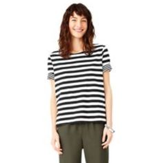 kate spade saturday reversable stripe top size M SOLD OUT kate spade saturday top in reversable wide/thin stripes. super soft! kate spade Tops Tees - Short Sleeve