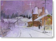 """This painting, """"The Station"""", is of the historic B&O train station in Oakland, Maryland.  It's available in prints and cards at this Fine Art America link."""