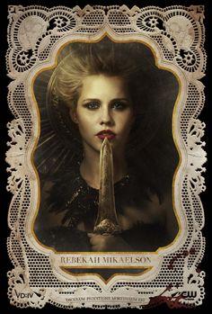 "Claire Holt play's Original vampire Rebekah Mikaelson in ""The Vampire Diaries"". Vampire Diaries Rebekah, Serie The Vampire Diaries, The Vampires Diaries, Vampire Diaries Poster, Vampire Diaries Seasons, Vampire Diaries Wallpaper, Vampire Diaries The Originals, Daniel Sharman, Daniel Gillies"