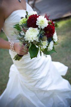 Her beautiful bouquet!