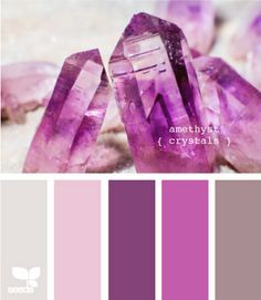 amethyst crystals - colour pallet for girls room (Marleigh) / I may use these colors for my Little Girls room when it gets done