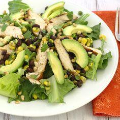 Southwestern Grilled Chicken Salad with Black Bean Salsa