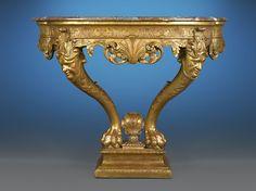 Antique English Furniture, Georgian Antique Furniture, Antique Console Table ~ Designed  in the manner of William Kent,ca 1740