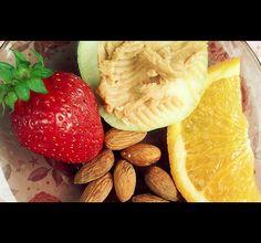Peanutbutter with apple by Cristina Dirnea, via Flickr Mobile Photos, Grapefruit, Peanut Butter, Strawberry, Apple, Food, Apple Fruit, Eten, Strawberry Fruit