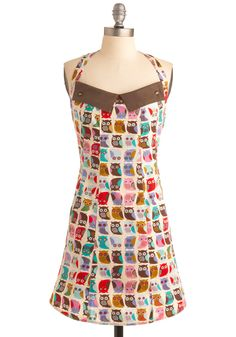 I lurve this! | If You Cant Stand the Hoot Apron | Mod Retro Vintage Kitchen | ModCloth.com