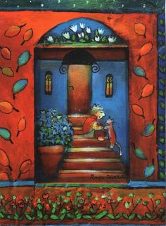 "Raija Nokkala, ""Pikku Prinssi"" (Little prince) Naive Art, Martini, Illustrators, Folk Art, Fairy Tales, Kitty, Postcards, Fun, Painting"