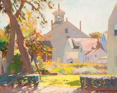 """Henry Hensche…..Light that's """"seductive to painters in the modernist tradition"""": Untitled (Provincetown Scene), an undated painting by Henry Hensche (1901–1992)"""