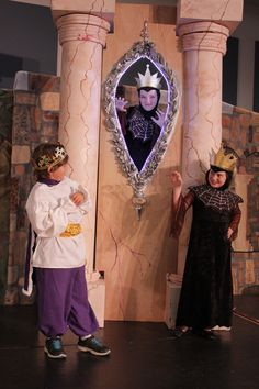 our king, evil queen and magic mirror!