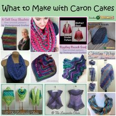 13 Crochet Patterns Using Caron Cakes | CrochetStreet.com Take a classic, simple design and some sass by changing the yarn and you have what seems like an entirely new piece for your wardrobe. That is the best thing about our craft. All we have to do is switch the medium and a new, fresh look emerges.