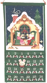 Christmas Countdown Calendar!! This is the one I grew up with!h  I still have mine