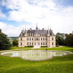 The Champagne area hides many treasures... This is @chateaudeboursault.  Pic by @nidimages.