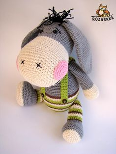 Amigurumi Donkey Making - Amigurumi Cactus Amigurumi, Mini Amigurumi, Amigurumi Animals, Amigurumi Doll, Crochet Animals, Crochet Motifs, Crochet Patterns Amigurumi, Crochet Dolls, Amigurumi Tutorial