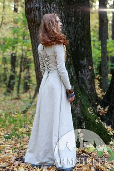 "Classic Medieval Dress with Lacing ""Sunshine Janet"". $104.50, via Etsy."