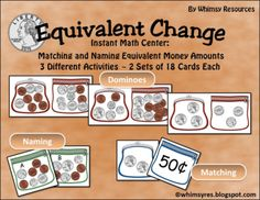 Counting Coins Money Center  from Whimsy Resources on TeachersNotebook.com -  (22 pages)  - Counting Coins Money Center  Instant Math Center!