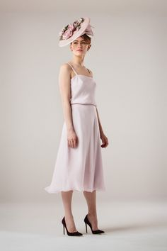 Pale Pink Chiffon Skirt and Cami - Stewart Parvin 191938fc0d5