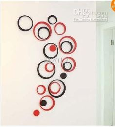 Wholesale 5 Circles Ring Creative Stereo Wall Stickers Mural Indoor 3D Wall Art Decoration, Free shipping, $5.77-6.81/Piece   DHgate Love it