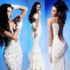 Mermaid white dress