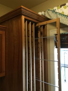 6 Frames - 3 Loads of Laundry ~ Dry your clothes out of sight & out of the way with DryAway! Pantry Laundry Room, Laundry Rooms, Clothes Dryer, Clothes Line, Utility Closet, Drying Rack Laundry, Cleaning Closet, Custom Cabinets, Mudroom