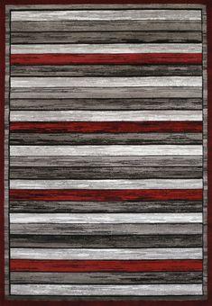 United Weavers of America Studio Painted Deck Scarlet Area Rug, Red