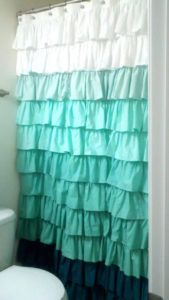 Aqua Blue Chevron Shower Curtain