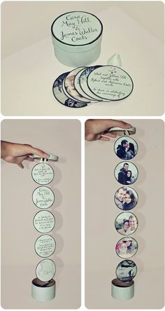 DIY Wedding Invitiations - Creative Circle Chain Wedding Invitation - Templates, Free Printables and Wording | Tutorials for Unique, Rustic, Elegant and Vintage Homemade Invites http://diyjoy.com/diy-wedding-invitations