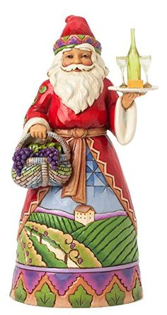 Jim Shore Heartwood Creek Not Old, Just Vintage Vineyard Santa with Grape Basket Figurine Jim Shore Christmas, Christmas And New Year, Christmas Themes, Christmas Fun, Vintage Christmas, Santa Figurines, Disney Figurines, Christmas Figurines, Vintage Santa Claus