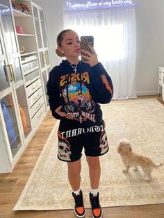 Swaggy Outfits, Baddie Outfits Casual, Swag Outfits For Girls, Cute Swag Outfits, Chill Outfits, Cute Comfy Outfits, Tomboy Fashion, Teen Fashion Outfits, Retro Outfits