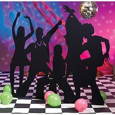 Dancing silhouettes! The projector could come in handy for making these out of cardboard & paint